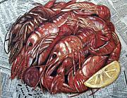 Louisiana Crawfish Posters - Ready to Eat Poster by JoAnn Wheeler