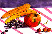 Yellow Bananas Paintings - Ready-to-Eat by Paula Ayers
