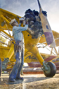 Stearman Prints - Ready To Fly Print by Ricky Barnard