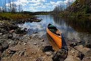 Bwcaw Metal Prints - Ready to Paddle Metal Print by Larry Ricker