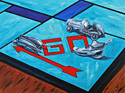 Monopoly Paintings - Ready to Play by Herschel Fall
