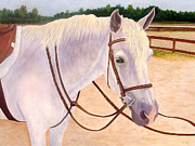 Stable Painting Originals - Ready to Ride by Karen Zuk Rosenblatt