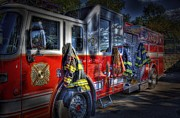 Fire Truck Photos - Ready To Roll by Arnie Goldstein