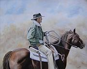 Roping Horse Paintings - Ready to Rope by Mary Rogers