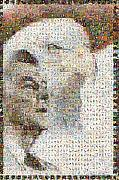 Photomosaic Prints - Reagan Print by Gilberto Viciedo