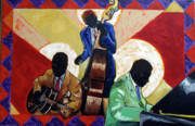 Guitar Painting Originals - Real Jazz Trio by P Muzi Branch