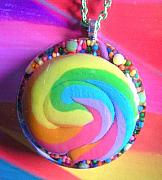 Resin Jewelry - Real Lollipop Inside this Pendant by Razz Ace