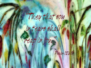 Scriptural Posters - Reap in Joy Poster by Darla Sikes