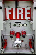 Workings Art - Rear of fire engine by Richard Thomas