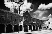 Quad Prints - rear of Queens University of Belfast main Lanyon Building and quad Northern Ireland uk Print by Joe Fox