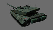 Challenger Model Prints - Rear View Of A British Challenger Ii Print by Rhys Taylor