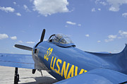 Lakeland Framed Prints - Rear View Of A F8f Bearcat Parked Framed Print by Stocktrek Images
