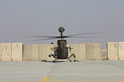 Airfield Prints - Rear View Of A Oh-58d Kiowa Warrior Print by Terry Moore