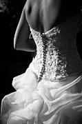 Black And White Art - Rear View Of Bride by John B. Mueller Photography