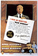 1950s Movies Framed Prints - Rear Window, Alfred Hitchcock, James Framed Print by Everett