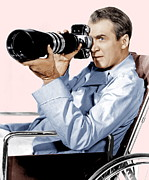 1950s Portraits Photo Metal Prints - Rear Window, James Stewart, 1954 Metal Print by Everett