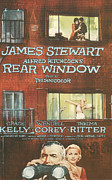 Motion Picture Framed Prints - Rear Window Framed Print by Nomad Art and  Design