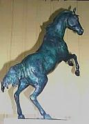 Racing Sculptures - Rearing Colt by Wayne Strickland