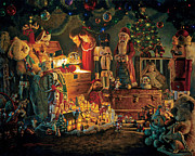Santa Painting Metal Prints - Reason for the Season Metal Print by Greg Olsen