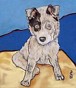 Big Eye Dog Prints - Reba Rae Print by Pat Saunders-White