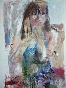 Young Girl Mixed Media Originals - Rebecca by Dorothy Herron