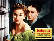Films By Alfred Hitchcock Photo Posters - Rebecca, From Left Joan Fontaine Poster by Everett
