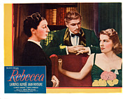 Lobbycard Framed Prints - Rebecca, From Left Judith Anderson Framed Print by Everett