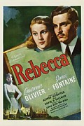 Hitchcock Framed Prints - Rebecca, Joan Fontaine, Laurence Framed Print by Everett