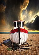 Wooden Boat Framed Prints - Rebecca Framed Print by Meirion Matthias