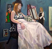 Gown Painting Originals - Rebekah by E Dan Barker