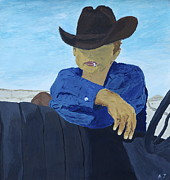 James Dean Painting Originals - Rebel Cowboy by Austin James