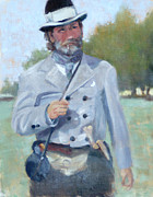 Franklin Tennessee Painting Posters - Rebel Dandy Poster by Sandra Harris