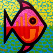 Stylised Prints - Rebel Fish  II Print by John  Nolan