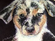 Puppies Pastels - Rebel by Jacquie McMullen