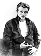 1950s Portraits Photo Metal Prints - Rebel Without A Cause, James Dean, 1955 Metal Print by Everett