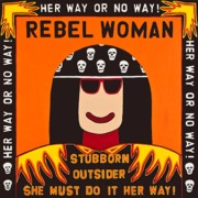 Outsider Art Paintings - Rebel Woman by MaryAnn Kikerpill