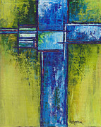 Cruciform Paintings - Rebirth by Cindy Johnston