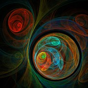 Colorful Digital Art - Rebirth by Oni H