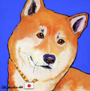 Japanese Dog Prints - Reborn Print by Pat Saunders-White