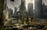 Busy City Photos - Rebuilding From Ground Zero in New York City by Marlene Ford
