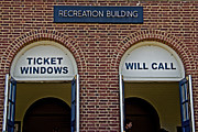 Window Signs Art - Rec Hall by Gallery Three