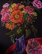 Table Cloth Pastels - Recital Bouquet by Emily Michaud