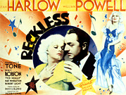 Harlow Framed Prints - Reckless, Jean Harlow, William Powell Framed Print by Everett