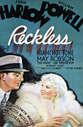 Harlow Framed Prints - Reckless, William Powell, Jean Harlow Framed Print by Everett