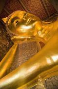 Religious Icons Prints - Reclining Buddha At Wat Pho, Low Angle Print by Axiom Photographic