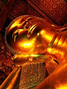 Chanting Prints - Reclining Buddha Print by Diane Height