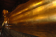 Historic Sites Posters - Reclining Buddha Grand Palace Thailand Poster by Bob Christopher