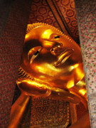 Coloured Posters - Reclining Buddha Poster by Oliver Johnston