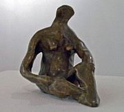 Mythology Sculpture Prints - Reclining Nude IV Print by John Neumann