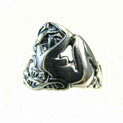 Nudes Art - Reclining #nude #sterling #ring - Part by Sacred Urban